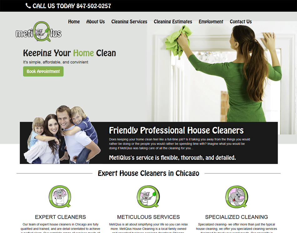 Website designing cleaning company website designers for Website to design a house