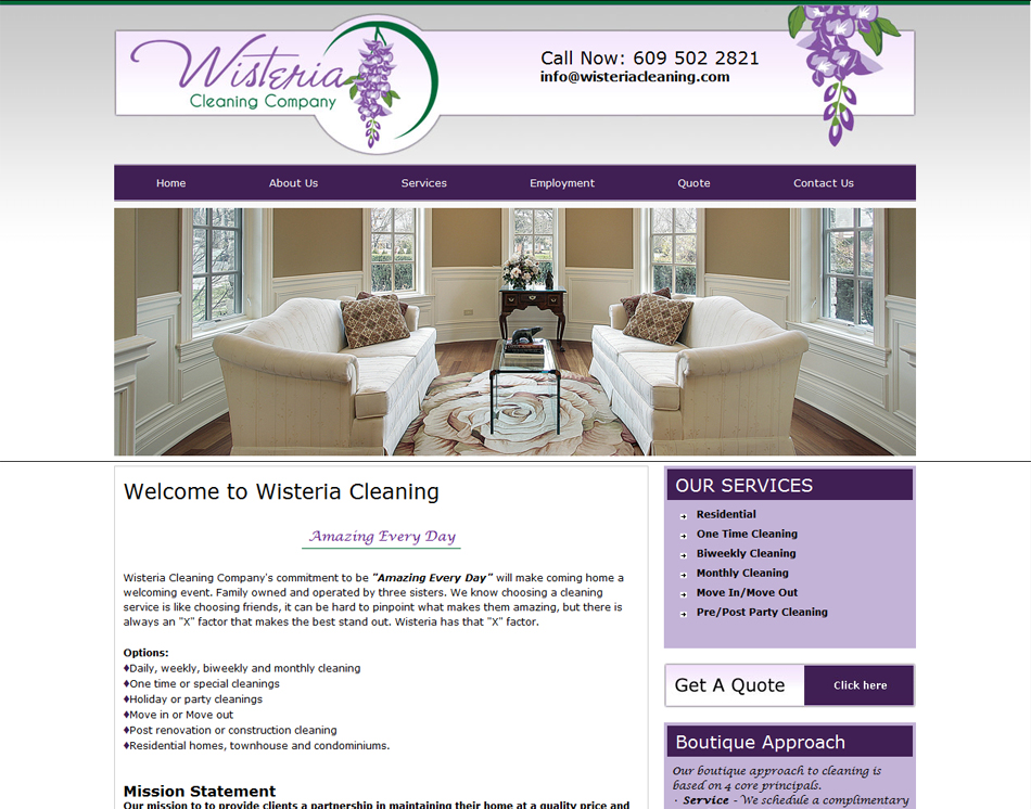 Website Designers 7 Page Website Design For Your Cleaning